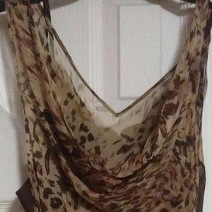 Ladies ICE Leopard Beaded Long Handkerchief Dress